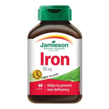 Jamieson Železo 50 mg tablete s podaljšanim sproščanjem, 60 tablet