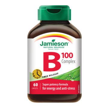 Jamieson B kompleks 100 tablete s podaljšanim sproščanjem, 60 tablet