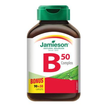 Jamieson B kompleks 50 tablete s podaljšanim sproščanjem, 120 tablet
