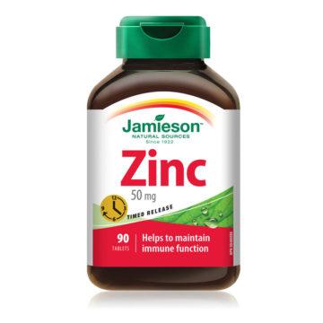 Jamieson Cink 50 mg tablete s podaljšanim sproščanjem, 90 tablet