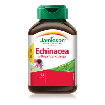 Jamieson Echinacea z dodanim česnom in ingverjem, 45 kapsul