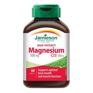 Jamieson Magnezij 500 mg + D3, 60 kapsula