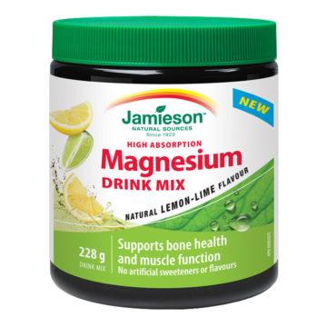 Jamieson Magnezij, prašek za pripravo napitka okus limona in limeta, 228 g