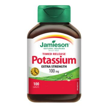 Jamieson Premium Kalij 100 mg s podaljšanim sproščanjem, 100 tablet