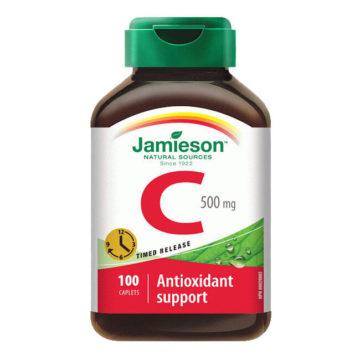 Jamieson vitamin C 500 mg tablete s podaljšanim sproščanjem, 100 tablet