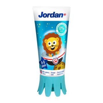 Jordan Kids zobna pasta za otroke 0-5 let (1000 ppm F), 50 ml