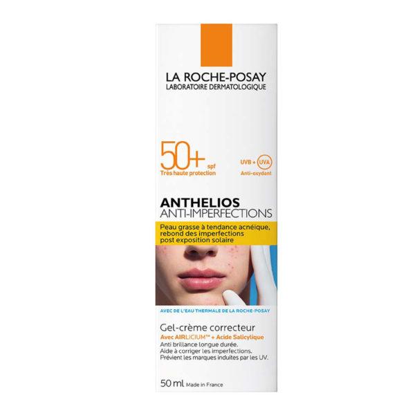 La Roche Posay Anthelios Anti-Imperfections korektivna gel-krema za obraz ZF50+, 50 ml