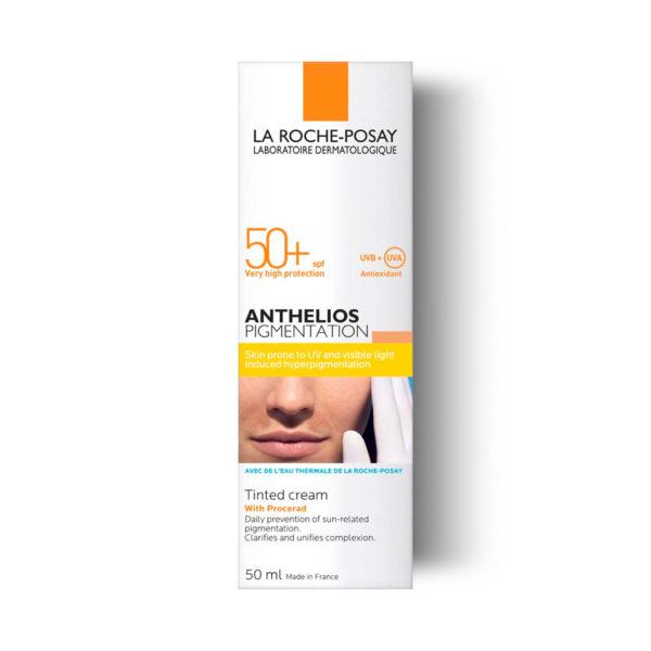 La Roche Posay Anthelios Pigmentation obarvana krema za obraz ZF50+, 50 ml