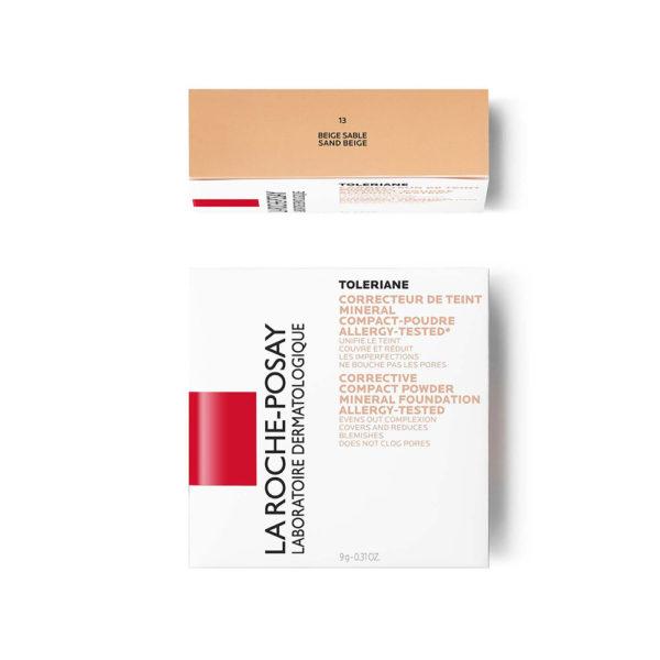 La Roche Posay Toleriane Teint kompaktni korektivni puder  št. 13, 9,5 g embalaža