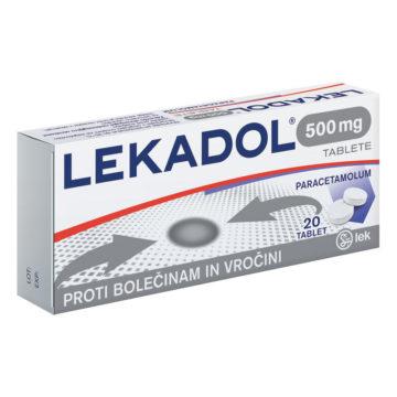 Lekadol 500 mg tablete, 20 tablet