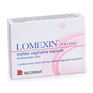 Lomexin 200 mg mehke vaginalne kapsule, 3 kapsule