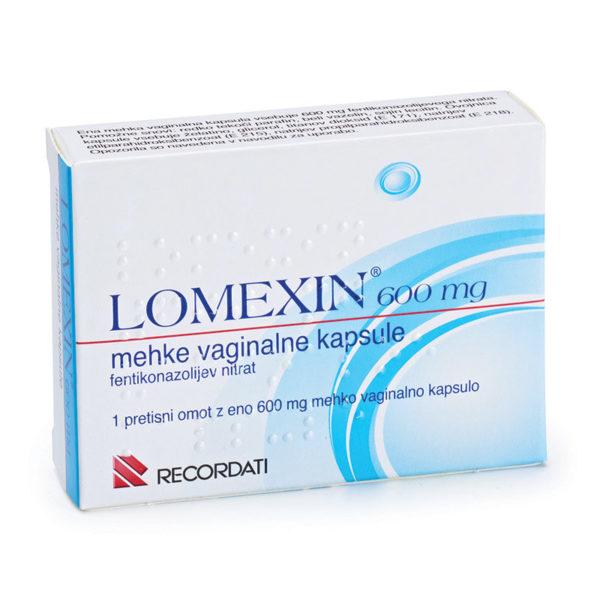 Lomexin 600 mg mehke vaginalne kapsule, 1 kapsula