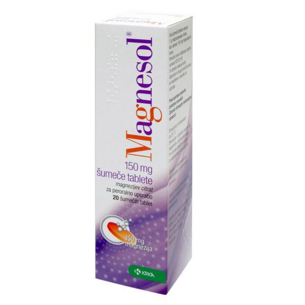 Magnesol 150 mg šumeče tablete, 20 šumečih tablet