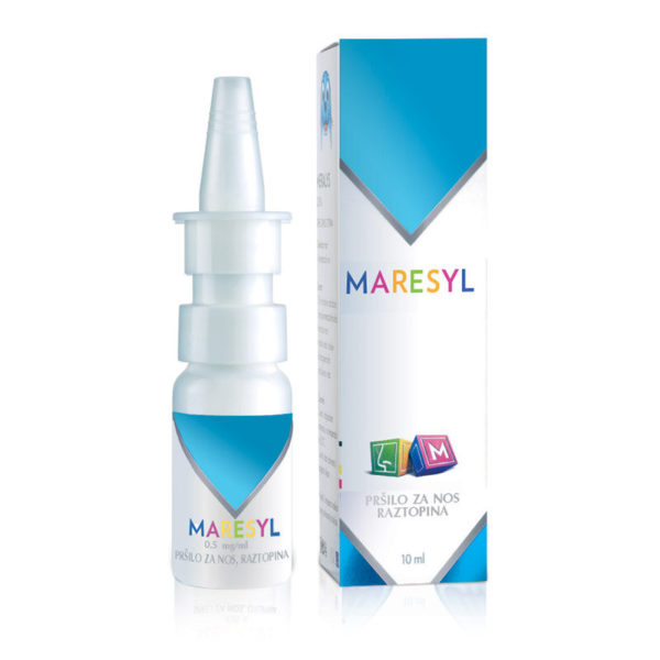 Maresyl za otroke 0,5 mg na ml pršilo za nos, 10 ml