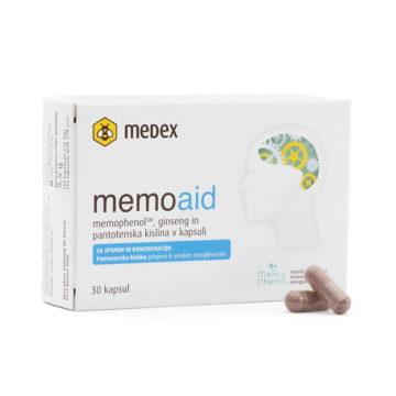 Medex MemoAid kapsule za umsko zmogljivost, 30 kapsul