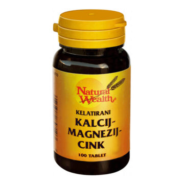 Natural Wealth kalcij, magnezij in cink, 100 tablet
