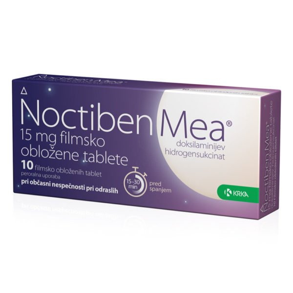 Noctiben Mea 15 mg filmsko obložene tablete, 10 tablet