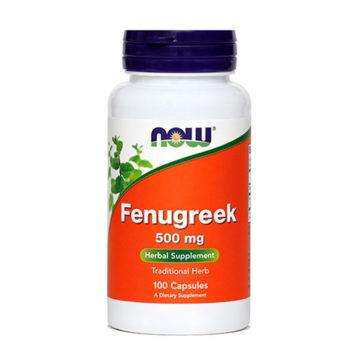 Now Fenugreek sabljasti triplat 500 mg, 100 kapsul