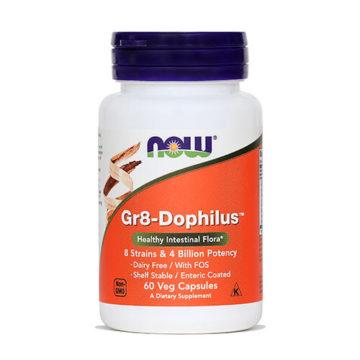 Now Gr8-Dophilus za uravnoteženo črevesno floro, 60 kapsul