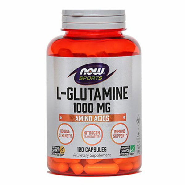 Now L-Glutamin, 120 kapsul