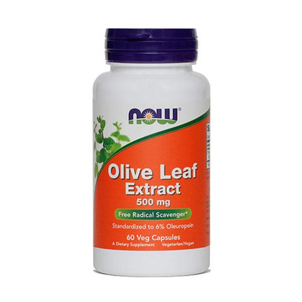 Now Olive Leaf oljčni listi ekstrakt 500 mg kapsule, 60 kapsul
