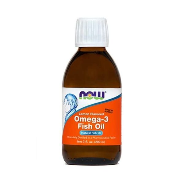 Now Omega-3 ribje olje z okusom limone, 200 ml