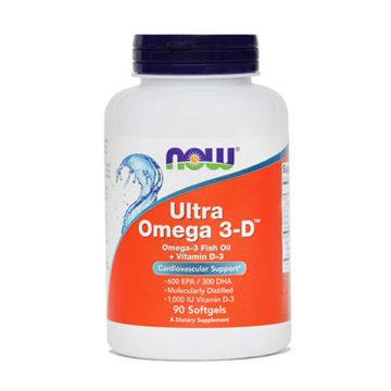 Now Ultra Omega 3-D, 90 mehkih kapsul