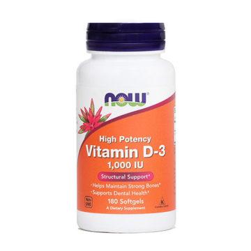 Now vitamin D-3 25 mcg kapsule, 180 kapsul