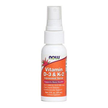Now vitamin D-3 & K2 pršilo, 59 ml