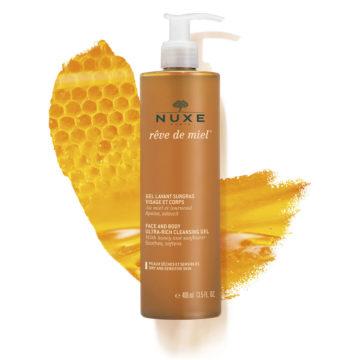 Nuxe Reve de Miel izjemno bogat čistilni gel za obraz in telo, 400 ml