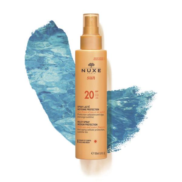 Nuxe Sun mlečno razpršilo za obraz in telo z ZF 20, 150 ml