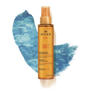 Nuxe Sun olje za obraz in telo v pršilu  ZF 30, 150 ml