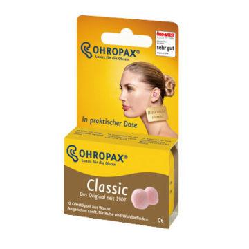 Ohropax Classic voščeni čepki za ušesa, 12 čepkov