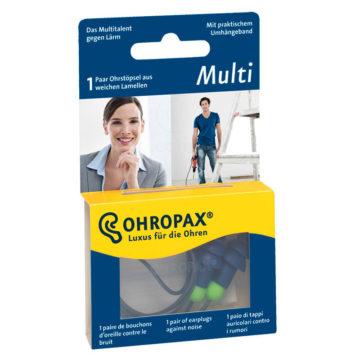 Ohropax Multi čepki za ušesa za večkratno uporabo, 2 čepka