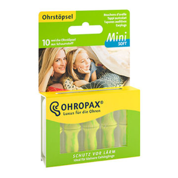 Ohropax Soft Mini čepki za ušesa, 10 čepkov