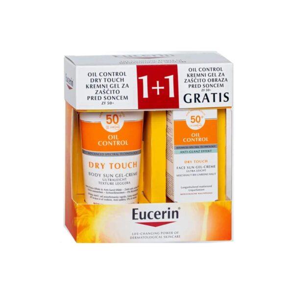 Eucerin Sun Oil control paket (200 ml + 50 ml)