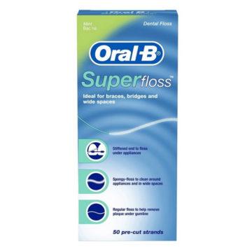 Oral-B Superfloss zobna nitka, 50 nitk