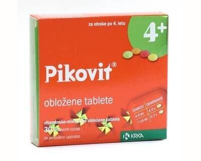 Pikovit 4+ obložene tablete, 30 obloženih tablet