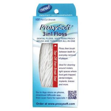 ProxySoft 3 v 1 večnamenska zobna nitka, 100 nitk