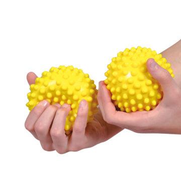 Sensy žoga ježek 20 cm rumena, 1 žoga