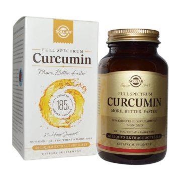 Solgar Curcumin, 30 mehkih kapsul