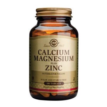 Solgar Kalcij magnezij plus cink, 100 tablet