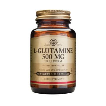 Solgar L-glutamin 500 mg, 50 rastlinskih kapsul