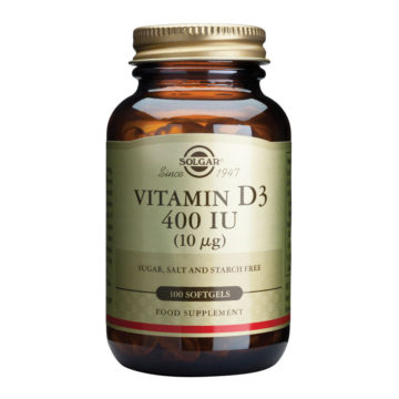 Solgar Vitamin D3, 100 mehkih kapsul