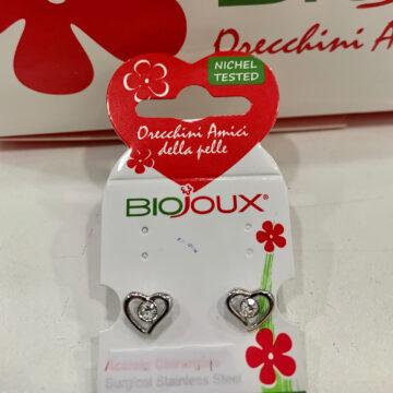 Biojoux medicinski uhani kristal srce BJT940