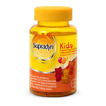 Supradyn Kids žvečljivi gumijasti medvedki, 30 bonbonov