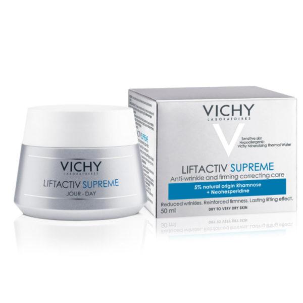 Vichy Liftactiv Supreme dnevna krema za suho kožo, 50 ml 01