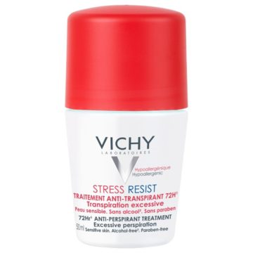 Vichy Stress Resist tretma proti potenju 72 h roll-on deodorant, 50 ml