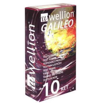 Wellion Galileo merilni lističi za ketone, 10 lističev