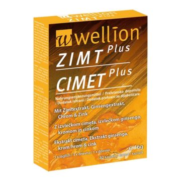 Wellion Zimt Plus cimet kapsule, 30 kapsul